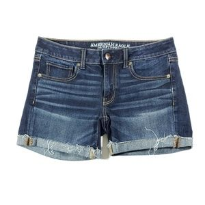 American eagle outfitters cuffed midi shorts 6